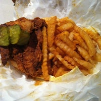 Photo taken at Prince's Hot Chicken Shack by Rachael W. on 9/14/2011