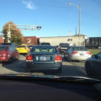Photo taken at Railroad Crossing - New York & Pine by Jay H. on 11/5/2011