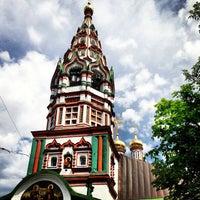 Photo taken at Храм Святителя Николая в Хамовниках by Ekaterina G. on 6/1/2013