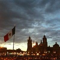 Photo taken at Plaza de la Constitución (Zócalo) by Liss M. on 3/31/2013