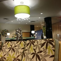 Photo taken at Holiday Inn Express & Suites Kansas City Airport by Shaun L. on 4/18/2013