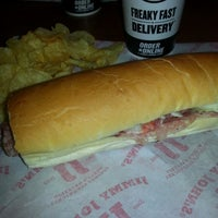 Photo taken at Jimmy John's by Marie R. on 1/14/2014