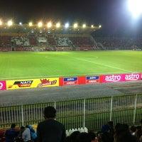 Photo taken at Stadium Sultan Muhammad IV by SumpikGelenya B. on 2/19/2013
