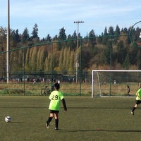 Photo taken at Marymoor Soccer Fields by Peter C. on 11/8/2014