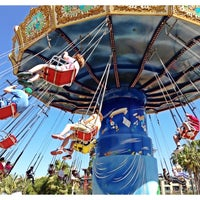 Photo taken at Silly Symphony Swings by Melanie C. on 4/18/2013