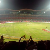Photo taken at Jawaharlal Nehru Stadium by Manu J. on 2/9/2013