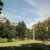 Photo taken at Plaza Barrancas de Belgrano by Verónica R. on 1/28/2013