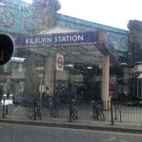 Photo taken at Kilburn London Underground Station by Lucky T. on 3/29/2013