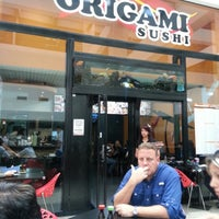 Photo taken at Origami Sushi by Karol C. on 1/29/2013