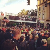 Photo taken at Rock n Roll Savannah Marathon Start by Chris L. on 11/9/2013