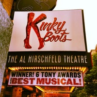 Photo taken at Kinky Boots at the Al Hirschfeld Theatre by Phillip W. on 7/13/2013