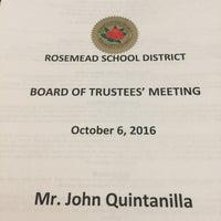 Photo taken at Rosemead School District by John Q. on 10/7/2016