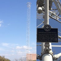 Photo taken at Moonlight Tower (15th & San Antonio) by Doug D. on 3/17/2013