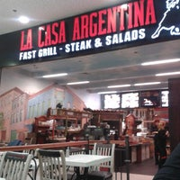 Photo taken at La Casa Argentina Fast Grill by Sima T. on 2/9/2013