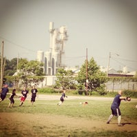 Photo taken at Clark Fields by Luis C. on 6/8/2013