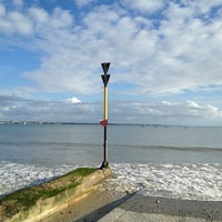 Photo taken at Plage Cachée by Vincent M. on 11/2/2012