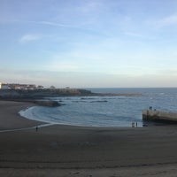 Photo taken at Cullercoats Beach by Jor V. on 9/28/2013
