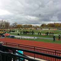 Photo taken at St. Norbert College Donald J. Schneider Stadium by David L. on 11/2/2013