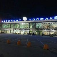 Photo taken at Tolmachevo International Airport (OVB) by Евгений Б. on 7/9/2013