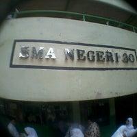 Photo taken at SMAN 30 Jakarta by Annisya Fauziah A. on 2/23/2013