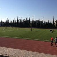 Photo taken at Soccer Field & Running Track ACG-Deree by Litsa P. on 9/28/2013