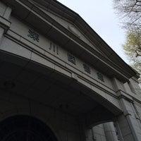 Photo taken at 江東区立 深川図書館 by ピヨ山 ピ. on 4/12/2015