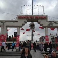 Photo taken at Bakırköy Özgürlük Meydanı by Esra Y. on 4/17/2013