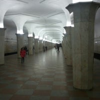 Photo taken at metro Kropotkinskaya by Михаил К. on 3/15/2013