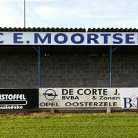 Photo taken at FC Moortsele by Ulrik ✈. on 10/4/2014