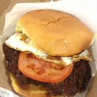 Photo taken at Custom Burgers by Pat La Frieda by Benjamin P. on 4/1/2013