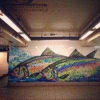 Photo taken at MTA Subway - Delancey St/Essex St (F/J/M/Z) by Craig F. on 4/21/2013