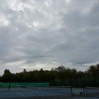 Photo taken at Maple Grove tennis court. by Fernanda N. on 10/1/2016