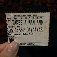 Photo taken at Cinemark Tinseltown 16 by Joanna G. on 4/14/2013