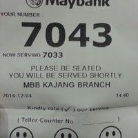 Photo taken at Maybank Kajang by Nizam B. on 12/4/2014