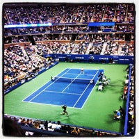 Photo taken at Arthur Ashe Stadium - USTA Billie Jean King National Tennis Center by Zach K. on 8/29/2012