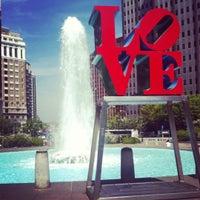 Photo taken at JFK Plaza / Love Park by Michael F. on 4/16/2012