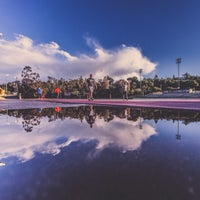 Photo taken at Foothill College Football Field by Ali S. on 4/1/2014