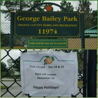 Photo taken at George Bailey Park by David L. on 12/24/2015