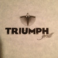 Photo taken at Triumph Grill by Tari W. on 3/12/2013
