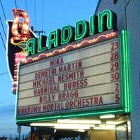 Photo taken at Aladdin Theater by David R. on 3/24/2013