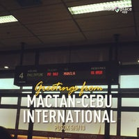 Photo taken at Mactan-Cebu International Airport (CEB) by Hannae C. on 5/5/2013