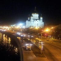 Photo taken at Bolshoy Kamenny Bridge by Cheveid S. on 4/12/2013