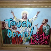 Photo taken at Sister Louisa's Church of the Living Room and Ping Pong Emporium by Lauren M. on 10/6/2012