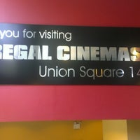 Photo taken at Regal Cinemas Union Square 14 by Wilber V. on 4/27/2013