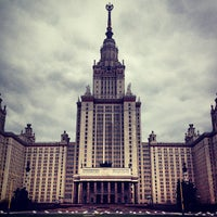 Photo taken at МГУ им. М. В. Ломоносова by Mikhail N. on 4/28/2013
