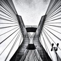 Photo taken at Ponte Octávio Frias de Oliveira (Ponte Estaiada) by 🎬 Alex L. on 10/19/2012