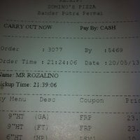 Photo taken at Domino's Pizza by Rozalino S. on 5/20/2013