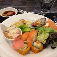Photo taken at Basil Restaurant by Surawadee K. on 2/17/2017