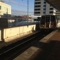 Photo taken at NoMa-Gallaudet U Metro Station by Kevin K. on 2/21/2013
