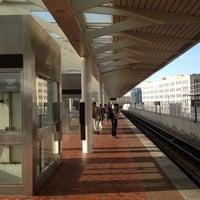 Photo taken at NoMa-Gallaudet U Metro Station by Kevin K. on 4/11/2013